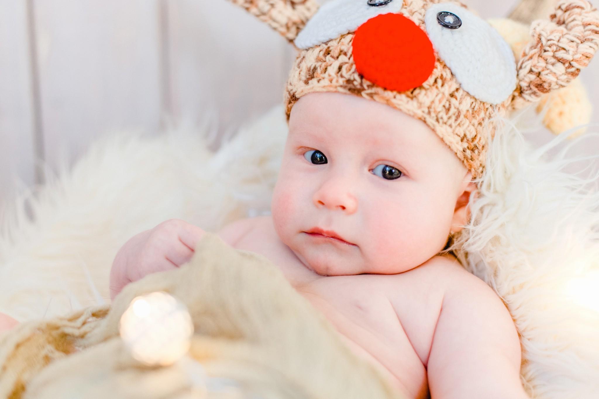 weihnachtsliches Babyfoto
