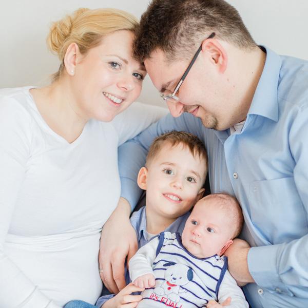 Familien Fotoshooting in der Rostocker KTV