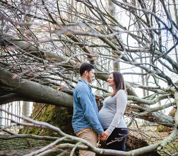 Schwangerschaftsfotoshooting im Gespensterwald Nienhagen