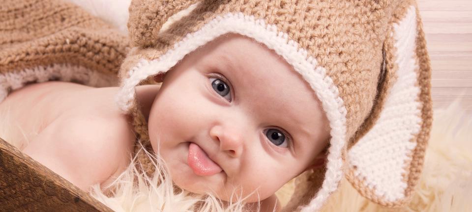 Fotoshooting für Babys und Kleinkinder zu Ostern.