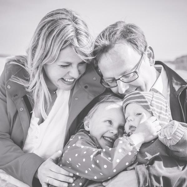Familienfotos am Strand von Wustrow